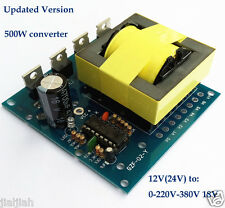 DC-AC Converter 12V to 220V 380V 18V AC 500W Inverter Board Transformer Power