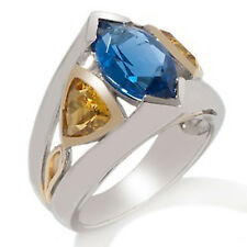 Richard Chador Pulsare Marquise-Shaped Simulated Tanzanite and Created Sapphire