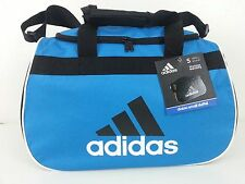 NWT Adidas Diablo Small Duffel Bag Blue/Black/White Sport Gym Travel Carry On