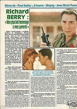 "Coupure de presse Clipping 1991 Richard Berry (1 page) film ""pour Sacha"""