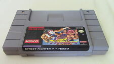 Street Fighter II Turbo 2 Super Nintendo SNES Game Cart Tested