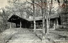 Posted 1940s Real Photo Postcard; Cabin at Palisade State Park, Mt. Vernon IA