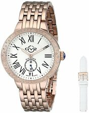 GV2 by Gevril Women's 9102 Astor Diamond Limited Edition Rose-Gold Steel Watch