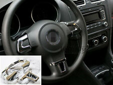 3 PCS Steering Wheel Trim Cover insert chrome-plated For 09-12 Jetta Polo Golf