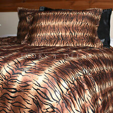 TIGER PRINT FUR QUEEN SIZE Doona Duvet Quilt Cover Set New Animal Bedding Safari