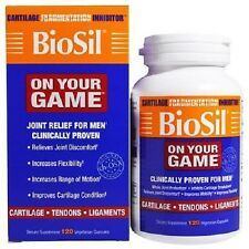Natural Factors BioSil ON YOUR GAME Men's Joint Cartilage Formula 5 mg 120 Caps