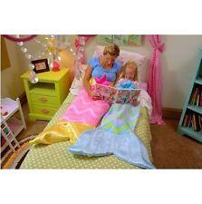 Kids Pink Mermaid Tail Fleece Blanket Sleeping Bag Sofa Blanket Fancy Gift