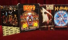 Lot of 4 VHS tapes Rock Music Kiss X 2, Def Leppard, U2 Rattle and Hum