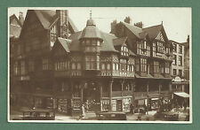 "CIRCA LATE 1920's PC ""THE CROSS, CHESTER"" - CARS, SHOPS - CHESTER ROWS"