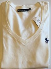 BNWT Ladies Ralph Lauren White Polo T Shirt 100% Cotton Size L RRP £45