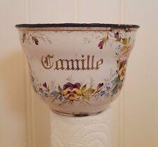Tasse émaillée à fleurs - pour Cafetière émaillée