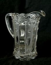 Antique pressed glass water pitcher 8 inches