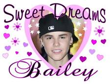 """JUSTIN BIEBER #1 Personalized PILLOWCASE """"SWEET DREAMS"""" Any NAME Super Soft"""
