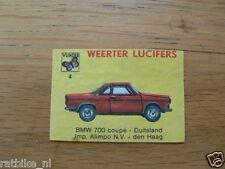 04 WEERTER LUCIFERS BMW 700 COUPE ,MATCHBOX LABELS,ETIKETTEN