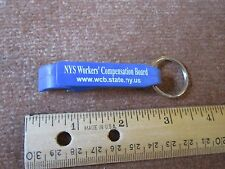 State Gov Key Ring NY Worker's Compensation Board Can Opener FREE SHIP!