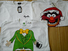 NEW 3x Mens CHRISTMAS STAR WARS MUPPETS T-SHIRTS SIZE XXL NEW LOOK