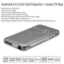 Mini WiFi HD Android DLP Portable Projector 1080P +Smart Quadcore TV BOX BT O7ZL
