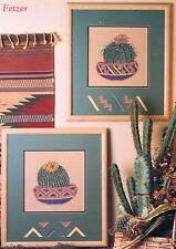 Kept In Stitches DESERT FLOWERS 2 Cross Stitch Charts/Leaflet~ blooming cactus