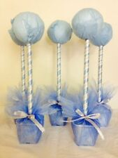 5  baby blue Hand crafted sweet tree kits disney frozen theme party table cente
