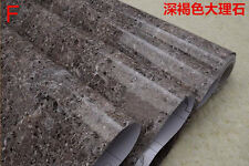 60CMx10M Roll Granite Stone Patterns Vinyl Wallpaper Sticker Furniture Decor
