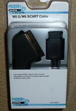 NINTENDO WII & WII U SCART TV AV CABLE LEAD VIDEO ADAPTER - BRAND NEW! 2m Black