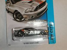 2015 Hot Wheels #11 '10 FORD SHELBY GT500 HW Workshop ZAMAC