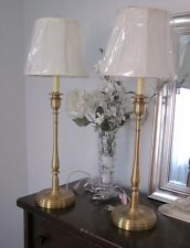 RALPH LAUREN DARIEN CANDLESTICK TABLE LAMP BRUSHED BRASS GOLD ONE SIGNED NEW