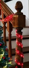 9ft. Ribbon Lights, Red, White, or Green ~ 26 LED Bulbs ~  Battery Operated