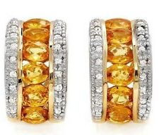 2.46ctw Diamond & Sapphire Earrings Solid Yellow Gold