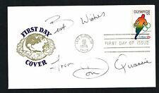 Don Quarrie signed autograph auto First Day Postal Cover FDC Jamaican Sprinter