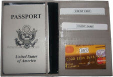 New USA Leather passport case wallet credit ATM card case ID holder Brand New WT