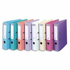 A4 Premium Lever Arch Files Pastel Colours 70mm Depth Smooth Finish - Pack Of 10