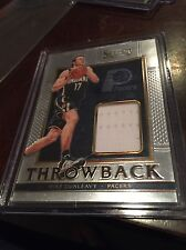 MIKE DUNLEAVY 2015-16 Select THROWBACK Jersey RELIC #45 PACERS #d 130/149
