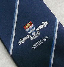 LYME REGIS GOLF CLUB SENIORS TIE VINTAGE RETRO NAVY BLUE GOLFING SPORTS SPORT