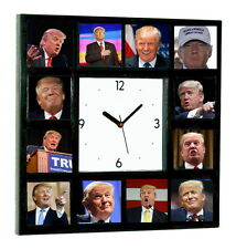 Elect Donald Trump For President 2016 Campaign Clock with 12 pictures