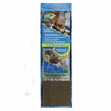 OurPets Cosmic Catnip Straight and Narrow Single Wide Reversible Cat Scratcher