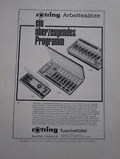 4/1967 PUB ROTRING TUSCHEFULLER ENCRE DE CHINE ORIGINAL GERMAN AD
