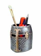 Crusader Medieval Knight Helmet Pen Pot / Pen Holder / Desk Tidy By Nemesis Now