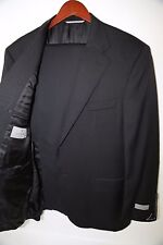 CANALI Classic Fit Two Button Black Suit Size 48 R  MSRP$1,695