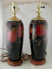 Moorcroft Pomegranate Faience lamps by William Moorcroft