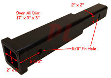 "12"" Hitch Receiver Extender Extension 2"" - 500 Load Capacity 8 *FREE SHIPPING*"
