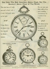 """Catalog Page Ad American  Alarm Clock """"The Tattoo"""" Nickel  #107 Parker  1907"""