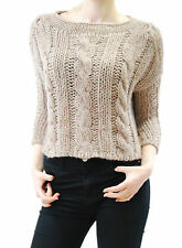 Free People Women's Knit Cropped Sweater Pullover  Brown Size XS BCF510