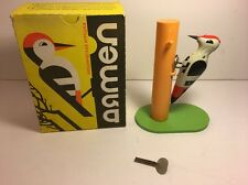 RARE Vintage Woodpecker Bird Wind Up Toy With Original Box