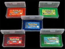 5Pcs Game Cards Pokemon Emerald/Sapphire/LeafGreen/FireRed/Ruby GBM/GBA/SP/NDS