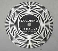 GOLDRING LENCO GL75/78 ...TURNTABLE STROBE