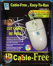 A4 Tech Cable-Free 2-Wheel Mouse For Windows 3.1/95/98/NT