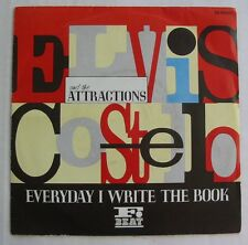 "ELVIS COSTELLO AND THE ATTRACTIONS (SP 45T 7"")  EVERYDAY I WRITE THE BOOK"