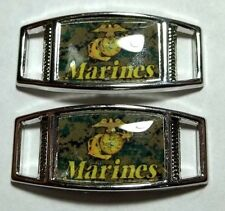 Set Of 2 U.S. Marine Corps USMC Semper Fi Shoelace Charms For Paracord Projects