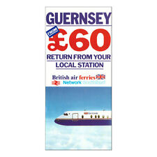 Britannico Aria Ferries Della Compagnia Aerea Pubblicità Brochure Guernsey